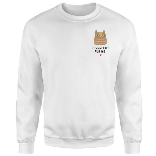 Purrrfect Fur Me Sweatshirt - White