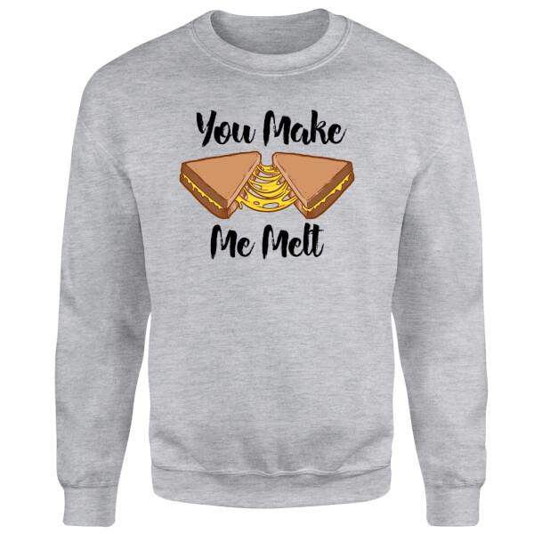 You Make Me Melt Sweatshirt - Grey
