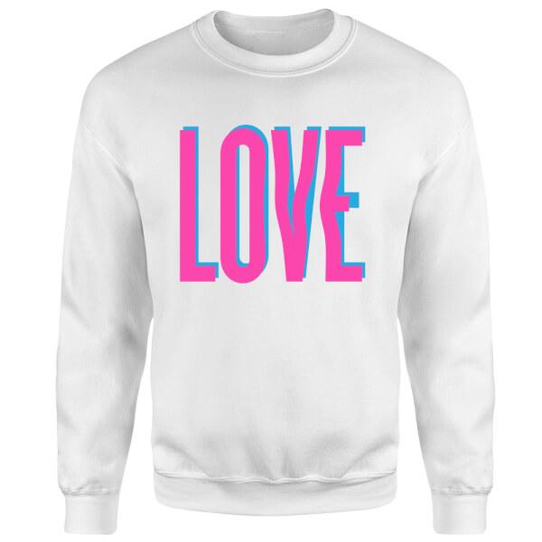 Love Glitch Sweatshirt - White