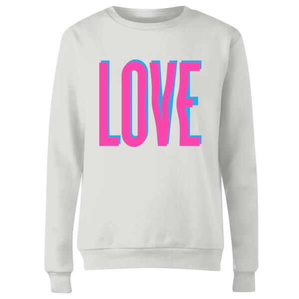 Love Glitch Women's Sweatshirt - White