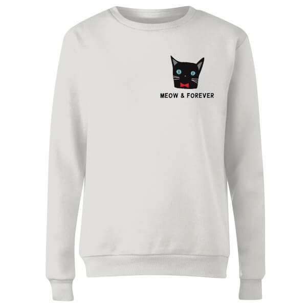 Meow & Forever Women's Sweatshirt - White
