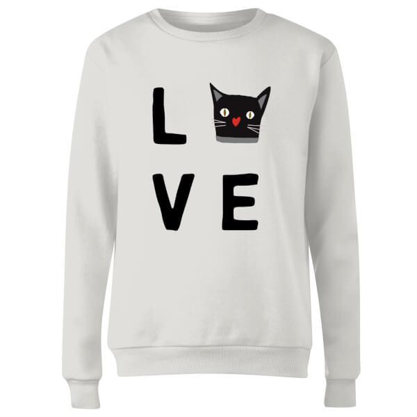 Cat Love Women's Sweatshirt - White