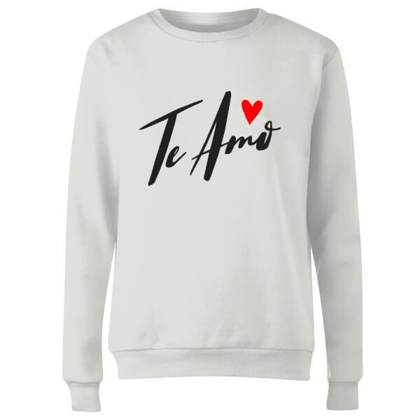 Te Amo Script Women's Sweatshirt - White