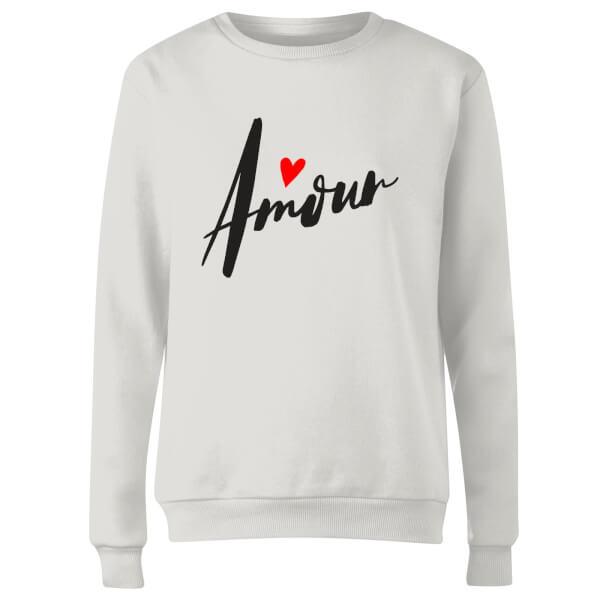 Amour Script Women's Sweatshirt - White