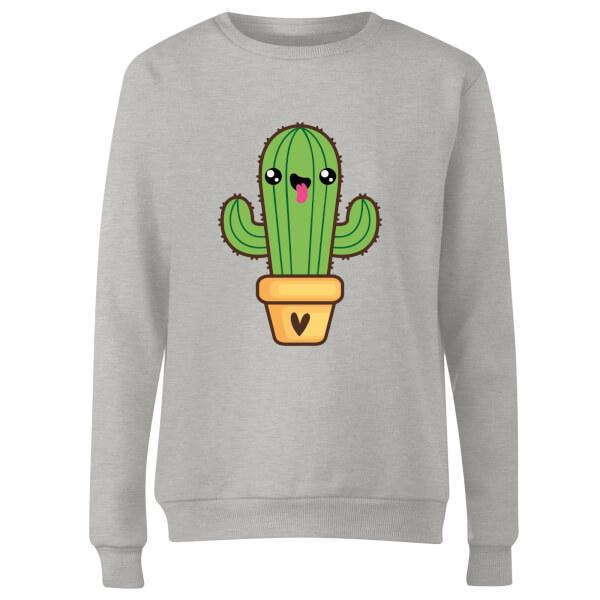Cactus Love Women's Sweatshirt - Grey