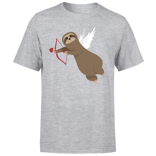 Sloth Cupid T-Shirt - Grey
