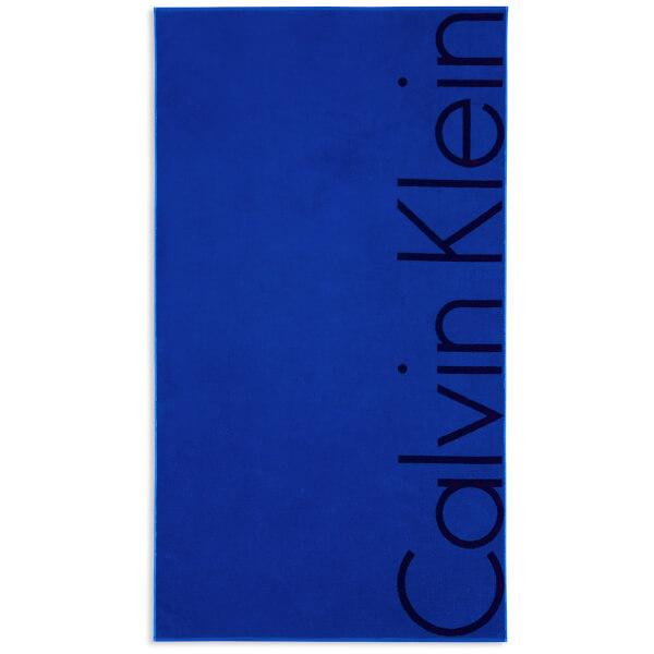 Calvin Klein Bold Beach Towel - Cobalt