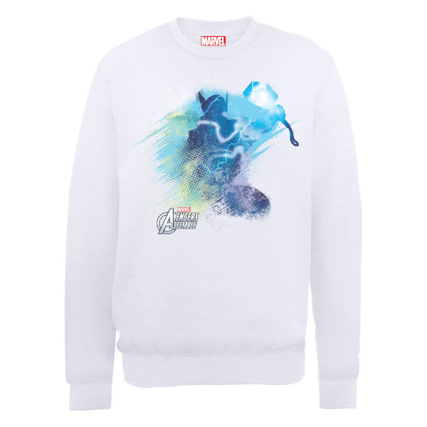 Marvel Avengers Assemble Hulk Art Burst Sweatshirt - White
