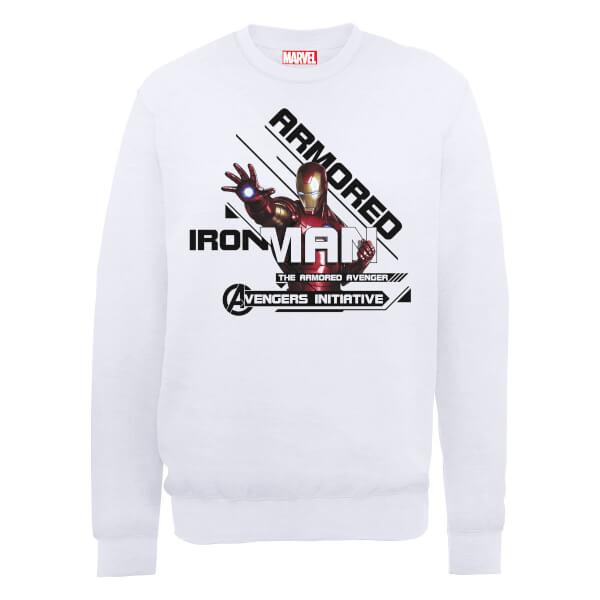 Marvel Avengers Assemble Iron Man Sweatshirt - White