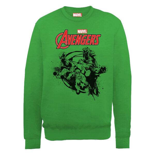 Marvel Avengers Assemble Team Burst Sweatshirt - Green