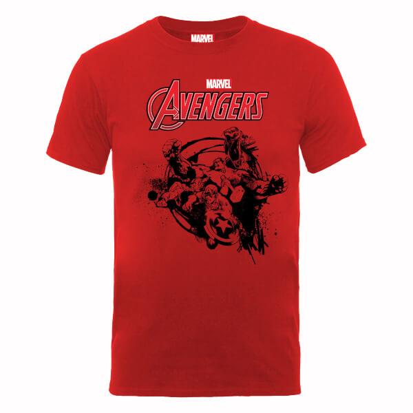Marvel Avengers Team Burst T-Shirt - Red