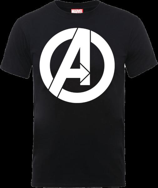 Marvel Avengers Simple Logo T-Shirt - Black