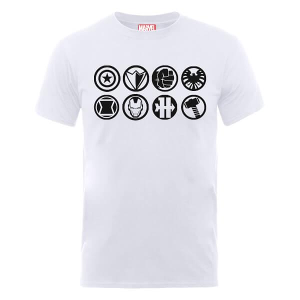 Marvel Avengers Assemble Team Icons T-Shirt - White
