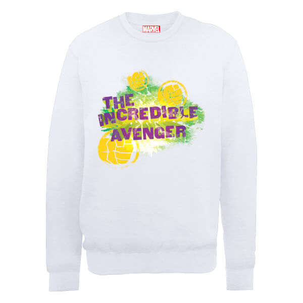 Marvel Avengers Hulk The Incredible Avenger Sweatshirt - White