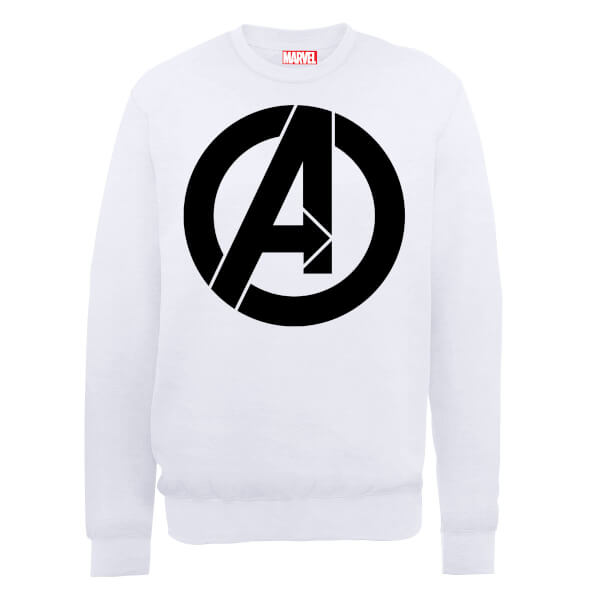Marvel Avengers Assemble Simple Logo Sweatshirt - White