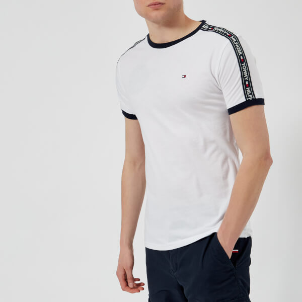 46a9e33c42df7c Tommy Hilfiger Men s Tape T-Shirt - White Clothing