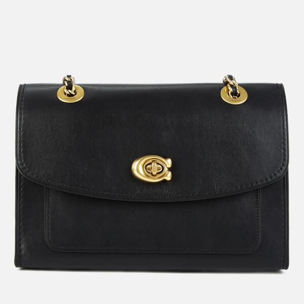 Coach Women's Refined Calf Leather Parker Shoulder Bag - Black