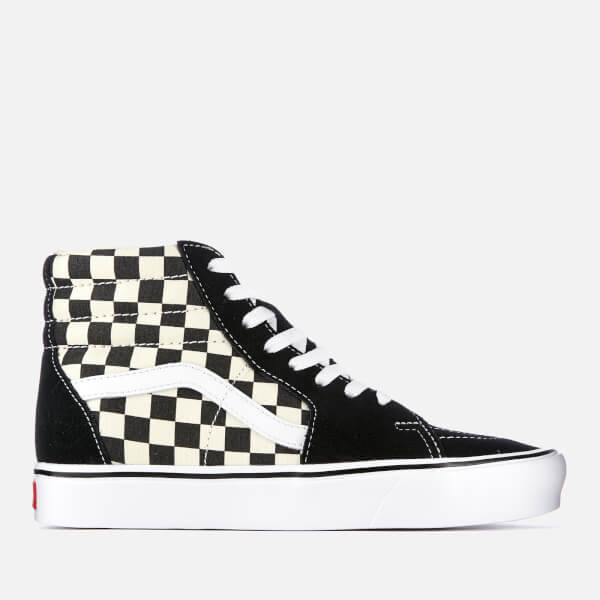 6aeb2abae81211 Vans Checkerboard Sk8 Hi-Top Lite Trainers - Black White  Image 1