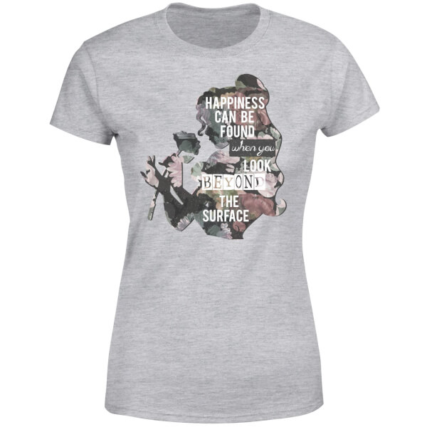 Disney Beauty And The Beast Happiness Women's T-Shirt - Grey
