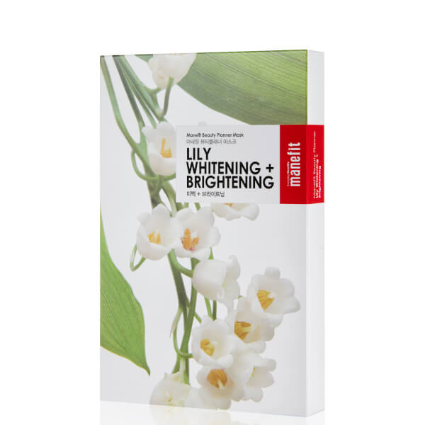 Manefit Beauty Planner Lily Whitening + Brightening Mask (Box of 5)