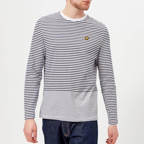 438953121dd2c Lyle   Scott Men s Long Sleeve Stripe T-Shirt - Navy Mens Clothing ...