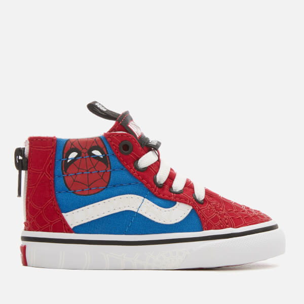 Vans Toddlers' Marvel Spider-Man Sk8 Hi-Top Trainers - Spider-Man/True White
