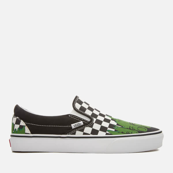 Vans Men's Marvel Hulk Classic Slip-On Trainers - Hulk/Checkerboard