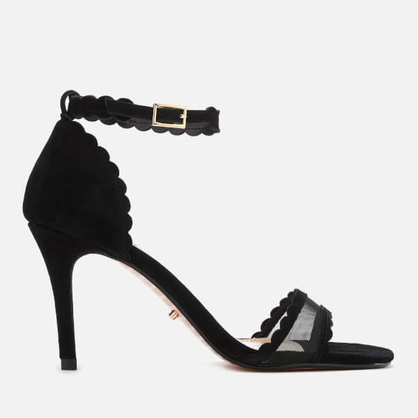 9c2c5e1c9802 Dune Women s Maam Suede Barely There Heeled Sandals - Black  Image 1