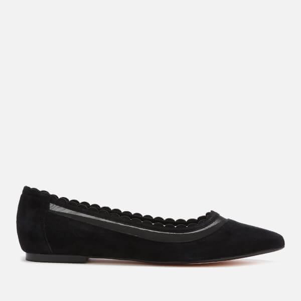 Dune Women's Calie Suede Pointed Flats - Black