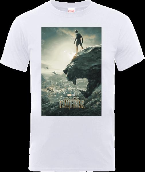 Black Panther Poster T-Shirt - White
