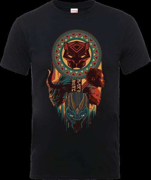 Black Panther Totem T-Shirt - Black