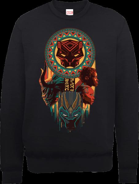 Black Panther Totem Sweatshirt - Black