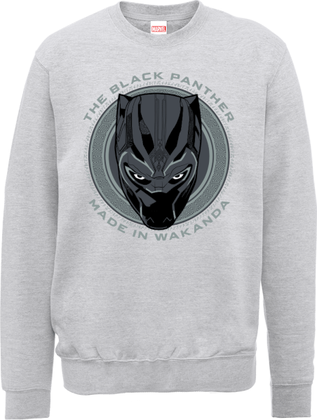 Black Panther Made in Wakanda Sweatshirt - Grey