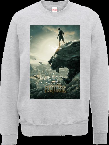 Black Panther Poster Sweatshirt - Grey