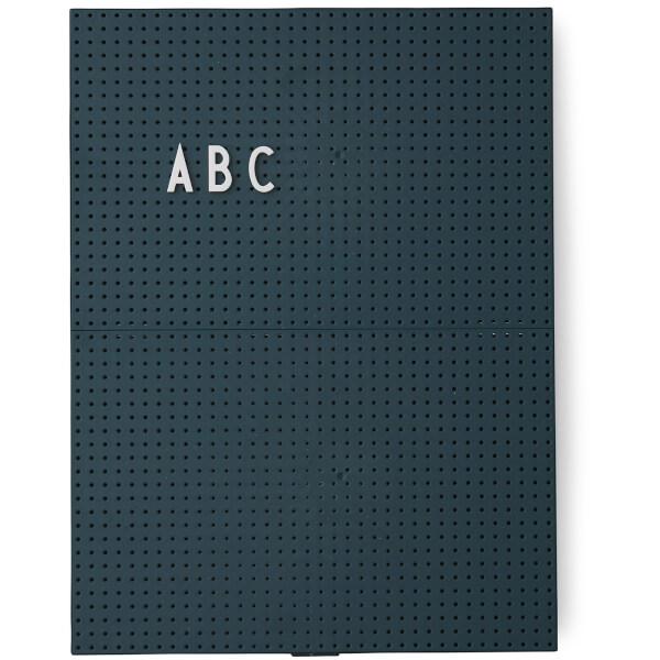 Design Letters A4 Message Board - Dark Green
