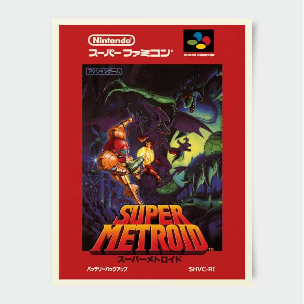 Nintendo Super Famicom Super Metroid Print