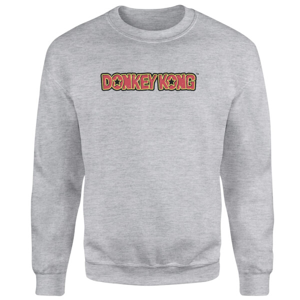 Nintendo Donkey Kong Distressed Sweatshirt - Grey