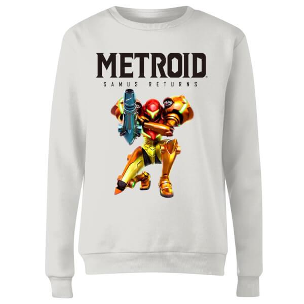 Metroid Samus Returns Women's Sweatshirt - White