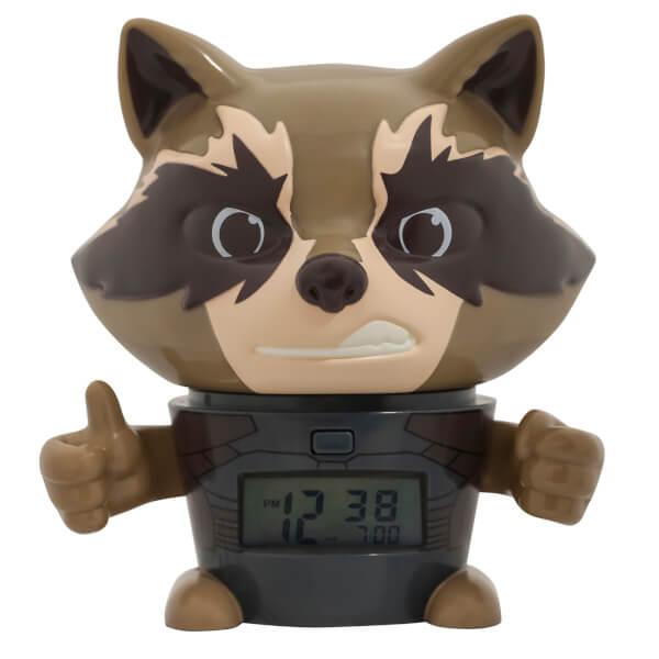 Bulbbotz Marvel The Avengers: Infinity War Rocket Raccoon Clock (5.5 inches)