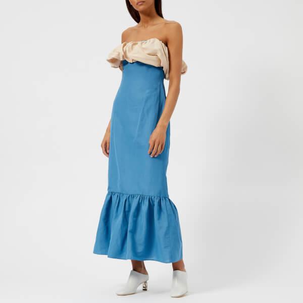 Rejina Pyo Women's Allegra Dress - Linen Dark Sky Blue/Beige