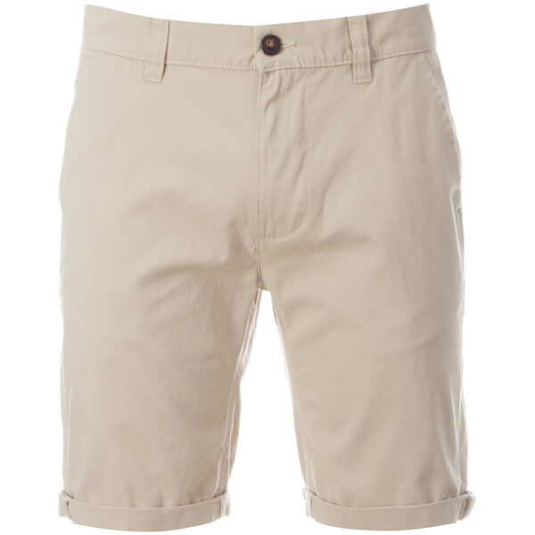 D-Struct Men's Miko Chino Shorts - Stone