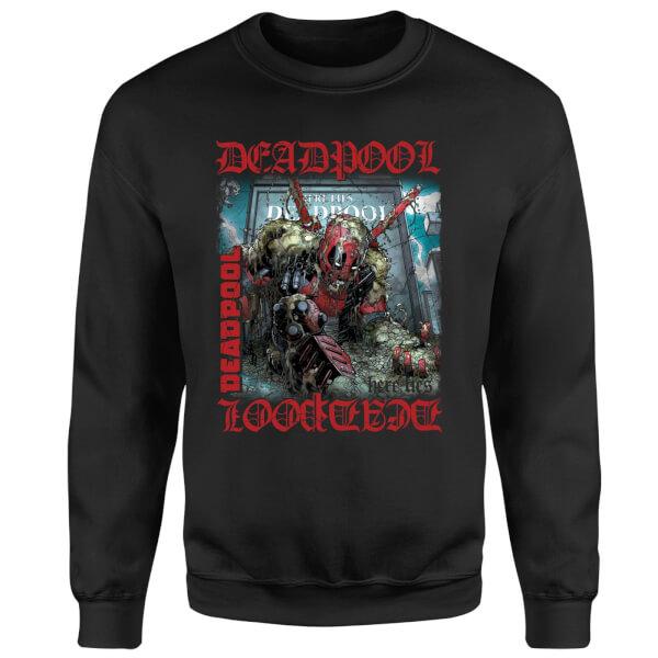 Marvel Deadpool Here Lies Deadpool Sweatshirt - Black