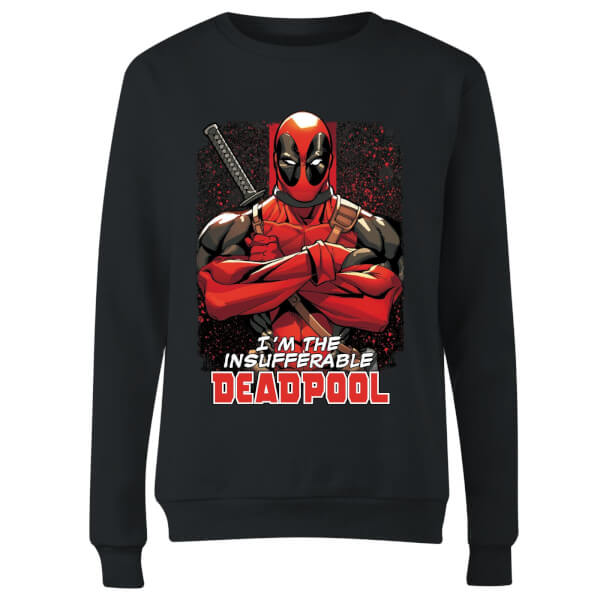 Marvel Deadpool Crossed Arms Women's Sweatshirt - Black