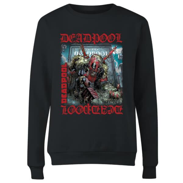 Marvel Deadpool Here Lies Deadpool Women's Sweatshirt - Black