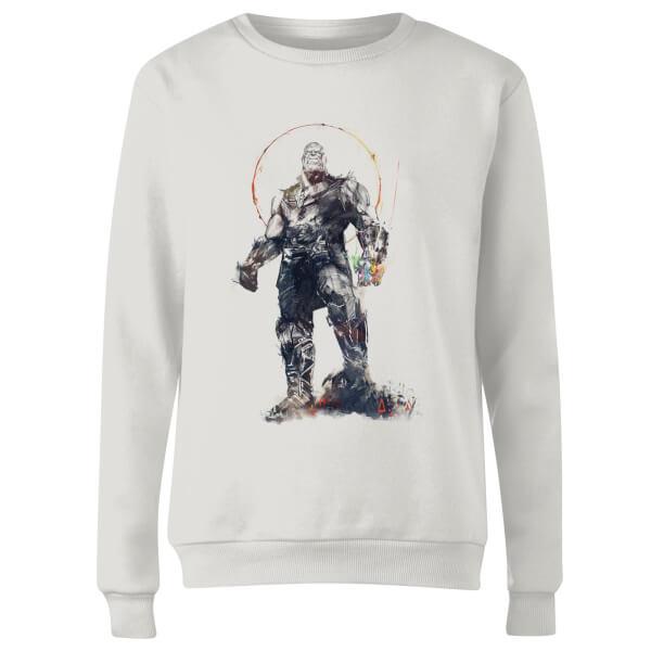 Marvel Avengers Infinity War Thanos Sketch Women's Sweatshirt - White