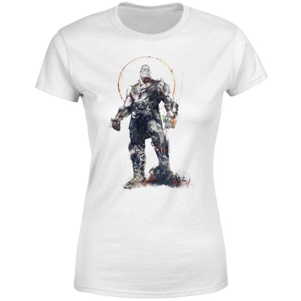 Marvel Avengers Infinity War Thanos Sketch Women's T-Shirt - White