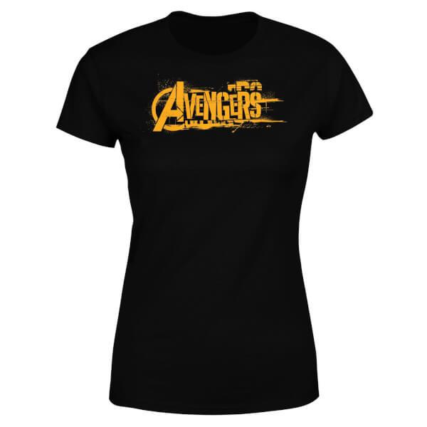 Marvel Avengers Infinity War Orange Logo Women's T-Shirt - Black