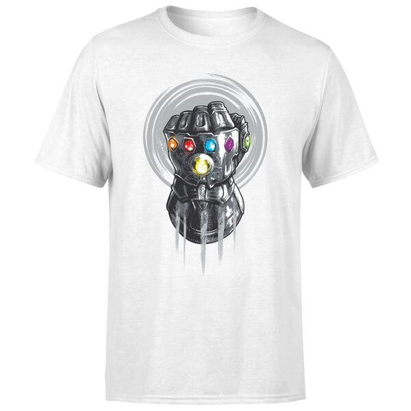 Marvel Avengers Infinity War Thanos Infinite Power Fist T-Shirt - White