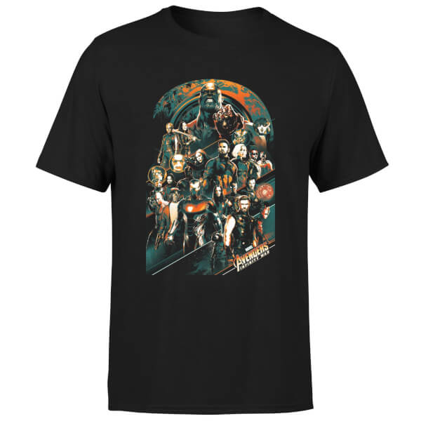 Marvel Avengers Infinity War Avengers Team T-Shirt - Black