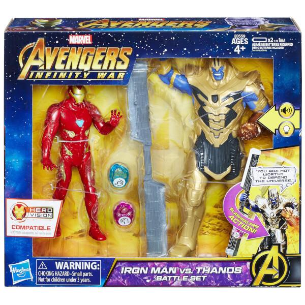 Hasbro Marvel Avengers 6 Inch Iron Man Vs. Thanos Battle Set
